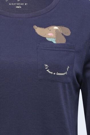 M&Co Blue Sausage Dog Pyjamas Set