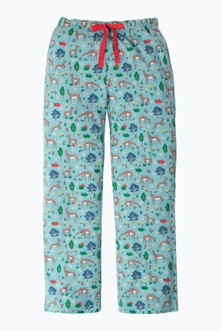 Frugi GOTS Organic Comfy Pyjama Bottoms in Deer Print