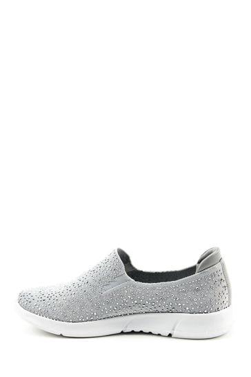 Heavenly Feet Grey Ladies Ath-Leisure Shoes