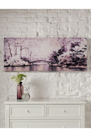 Watercolour Forest Bridge Wall Art by Art For The Home