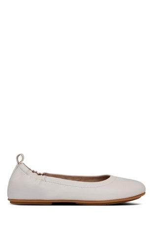 FitFlop™ White Allegro Ballerinas
