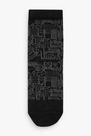 Monochrome 5 Pack Gamer Socks (Older)