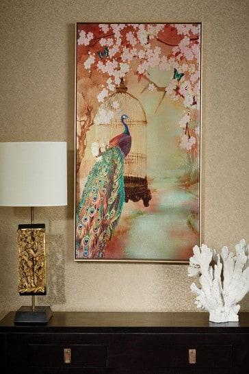 Suki Peacock Framed Print by Arthouse