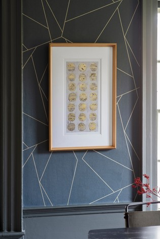 Metallic Fossil Study Framed Art by Gallery Direct