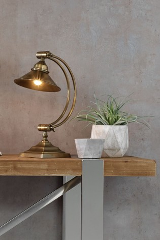 Pacific Brass Kensington Arched Arm Task Table Lamp