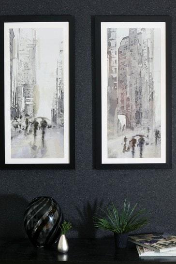 Stretch City Scene Framed Print by Arthouse