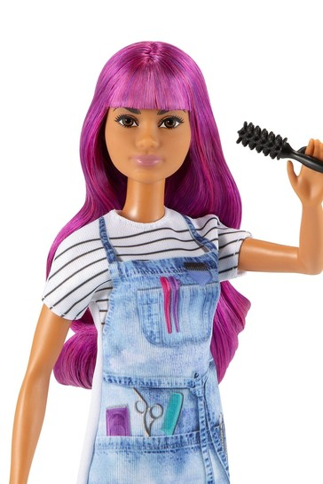 Barbie Salon Stylist Doll With Purple Hair