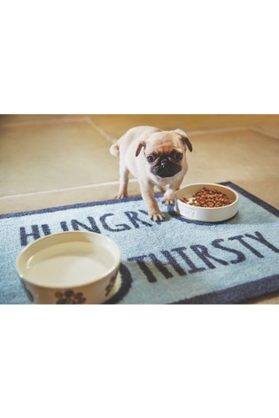 Howler & Scratch Hungry Washable Pet Non Slip Feeding Mat