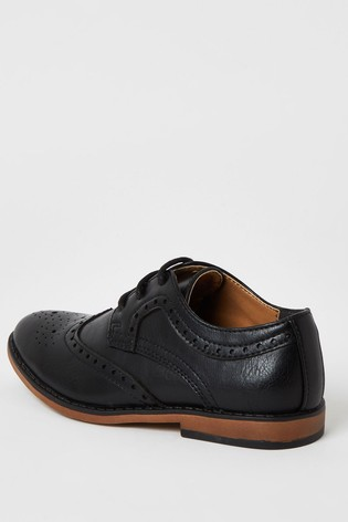 River Island Black Brogue Shoes