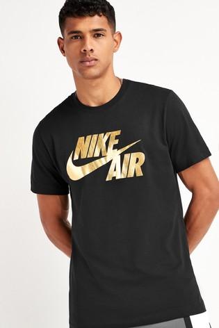 Nike Air Black Gold Foil T-Shirt