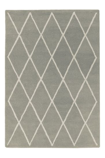 Albany Diamond Wool Rug by Asiatic Rugs