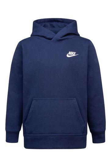 Nike Little Kids Navy Club Fleece Overhead Hoodie