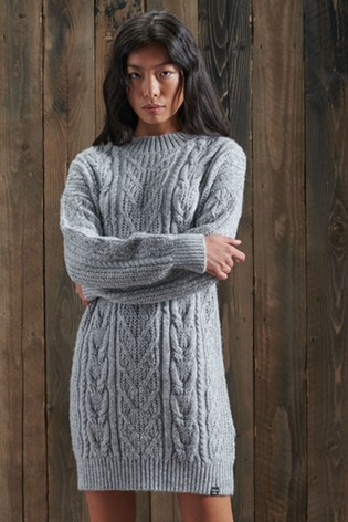Superdry Florence Cable Knit Dress
