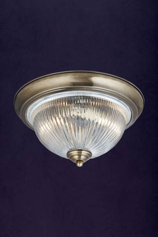 Metro 2 Light Ceiling Flush by Searchlight