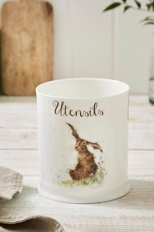 Royal Worceser Wrendale Hare Utensil Jar