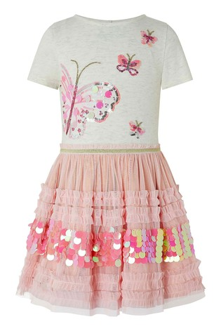 Monsoon Pink Disco Butterfly Dress