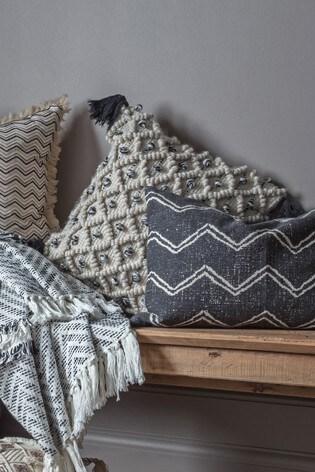 Gallery Direct Colca Diamond Tassel Cushion