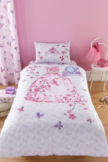 Glamour Princess Easy Care Duvet Cover and Pillowcase Set by Catherine Lansfield