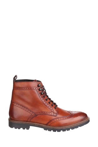 Base London® Tan Troop Lace-Up Boots