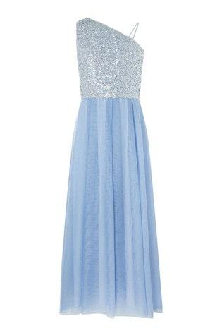 Monsoon Blue Eilish Prom Dress