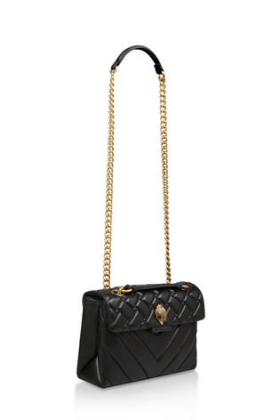 Kurt Geiger London Leather Kensington Black Day Bag