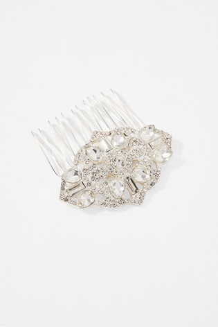 Accessorize White Crystal Hair Comb