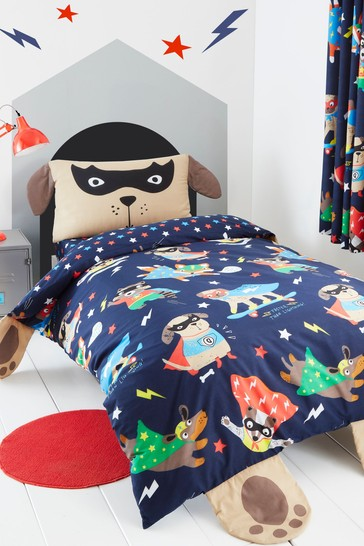 Super Dog Easy Care Duvet Cover and Pillowcase Set by Catherine Lansfield