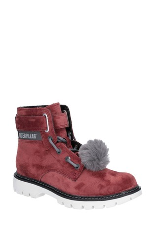CAT® Lifestyle Red Conversion Velvet Ankle Boots