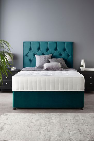 Catherine Lansfield Boutique Divan Set With Ortho Pocket Mattress Emerald