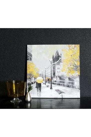 Ochre London Couple Canvas by Arthouse