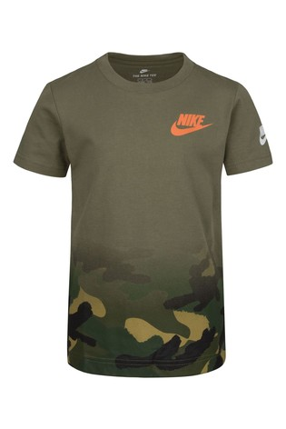 Nike Little Kids Khaki Camo Fade T-Shirt