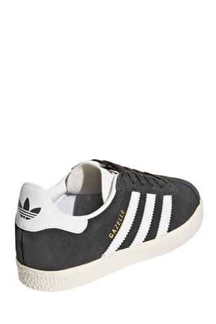 adidas Originals Grey/White Gazelle Junior Trainers