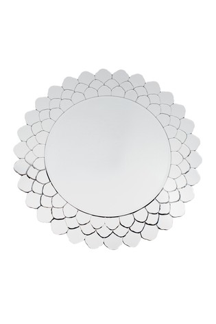 Petal Shaped Glass Round Mirror by Pacific
