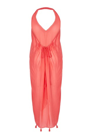 Mint Velvet Halter Neck Tassel Maxi Dress