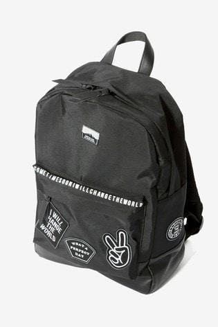 Sometime Soon Black Elias Logo Backpack