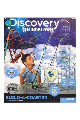 Discovery Mindblown Kids Building Set Roller Coaster 753 pc
