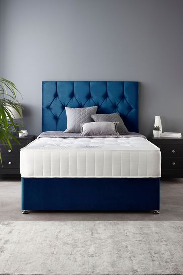 Catherine Lansfield Boutique Divan Set With Ortho Pocket Mattress Navy