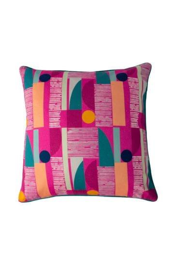 Barcelona Art Deco Geo Cushion by Riva Home