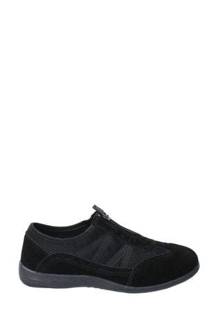 Fleet & Foster Black Mombassa Comfort Shoes