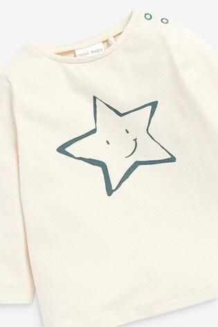 Multi Organic Cotton Star T-Shirt And Legging Set (0mths-2yrs)