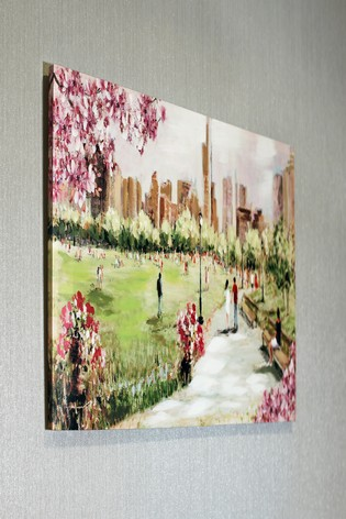 Painted Park Scene Canvas by Arthouse