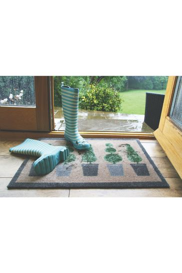 My Mat Topiary Washable And Recycled Non Slip Doormat