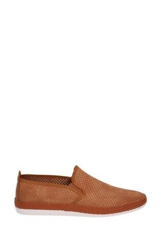 Flossy Tan Vendarval Slip-On Shoes