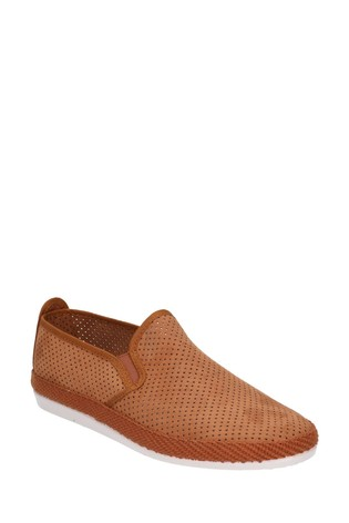 Flossy Tan Vendarval Slip-On Shoes