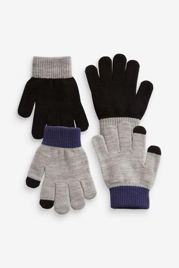 Black/Grey Sports Gloves (3-16yrs)