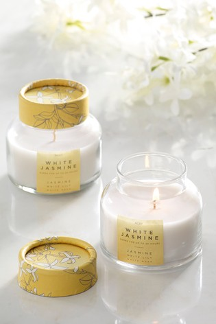 Set of 2 White Jasmine Candles