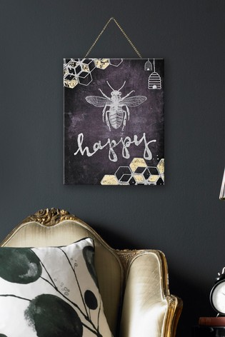 Bee Happy Wall Art by Art For The Home