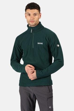 Regatta Green Kenger Half Zip Fleece