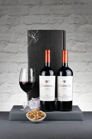 Set of 2 Chilean Red Reserva Wine Gift Set by Le Bon Vin