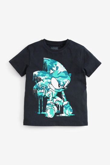 Camo Sonic Gaming License T-Shirt (3-16yrs)